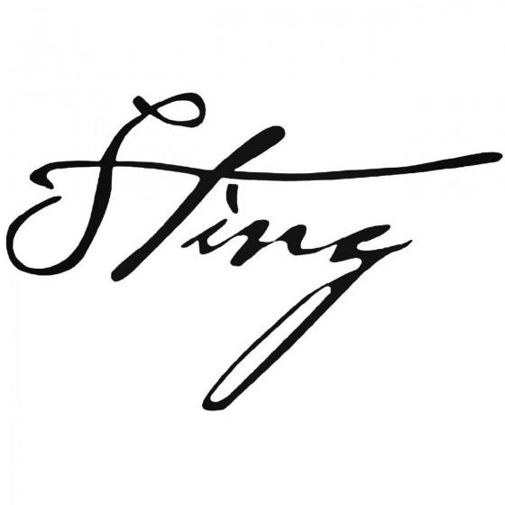 Sting Signature Die Cut...