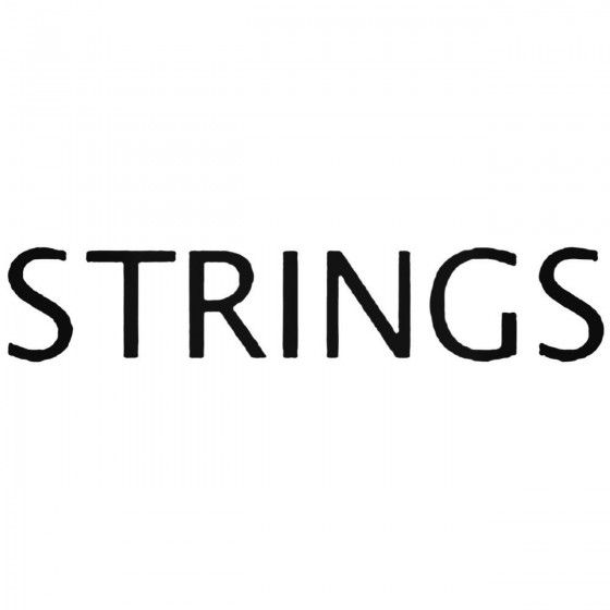 Strings Band Decal Sticker
