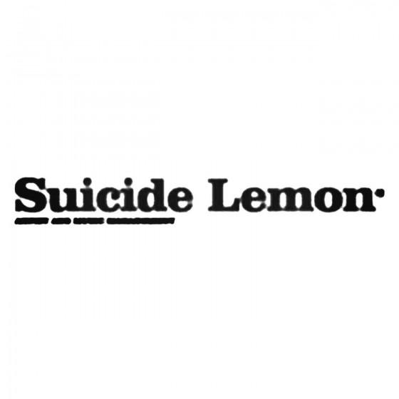 Suicide Lemon Decal Sticker