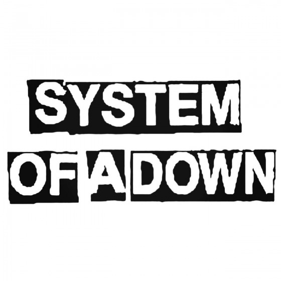 System Of A Down Band Decal...