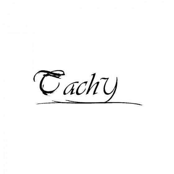 Tachyband Logo Vinyl Decal