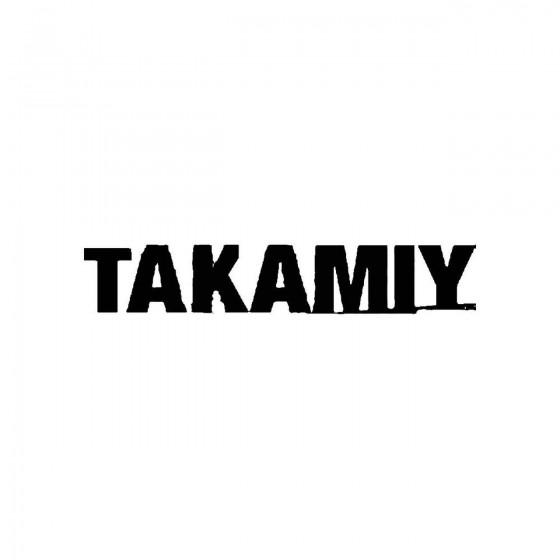 Takamiyband Logo Vinyl Decal