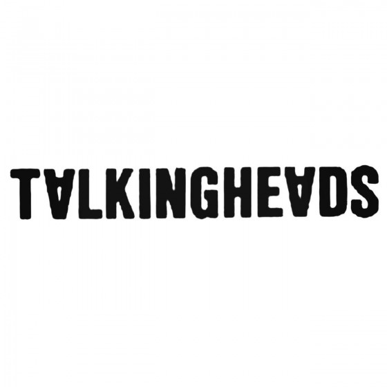 Talking Heads Band Decal...