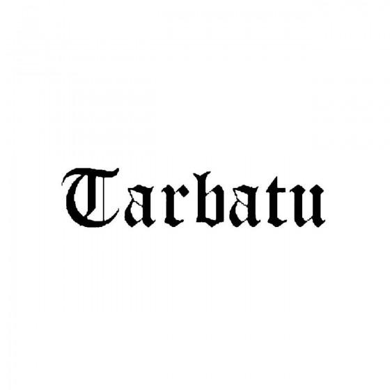 Tarbatuband Logo Vinyl Decal