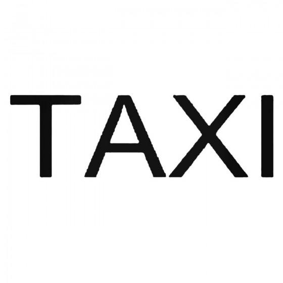 Taxi Por Band Decal Sticker
