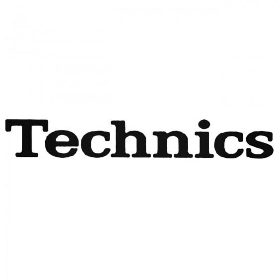 Technics Band Decal Sticker
