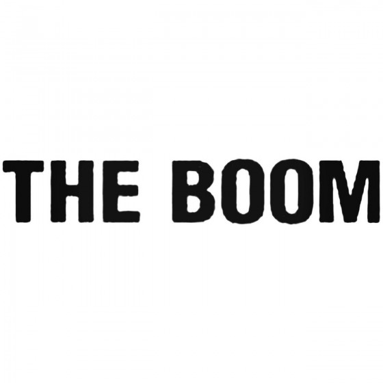The Boom Band Decal Sticker