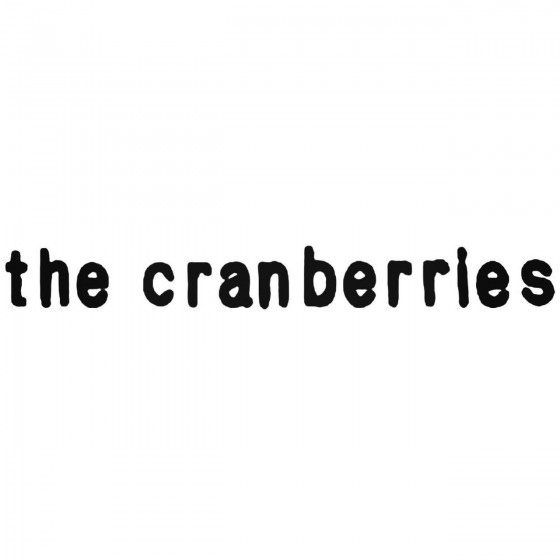 The Cranberries Band Decal...