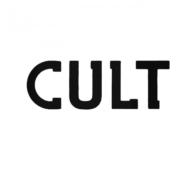 The Cult Band Decal Sticker