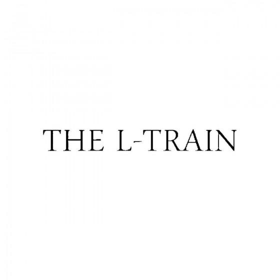 The L Trainband Logo Vinyl...