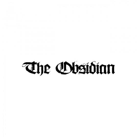 The Obsidianband Logo Vinyl...