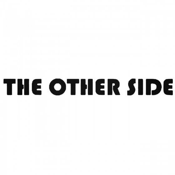 The Other Side Band Decal...