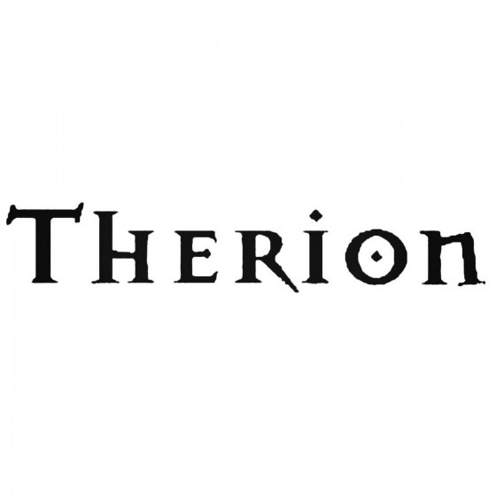 Therion Band Decal Sticker