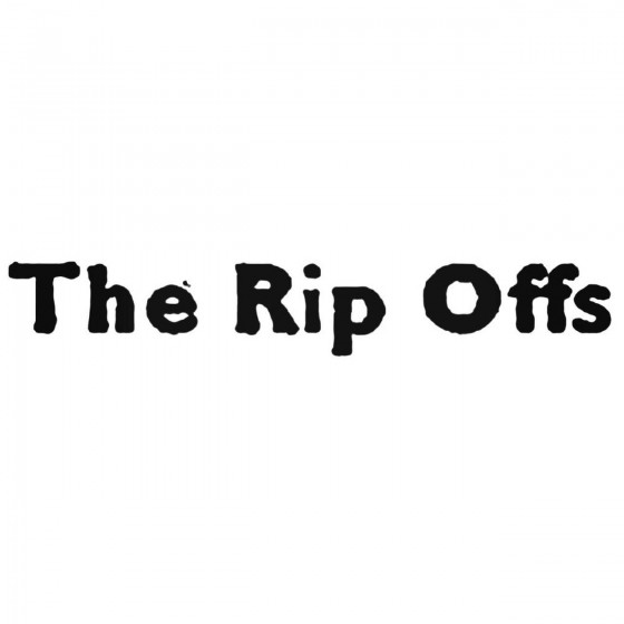 The Rip Offs Band Decal...