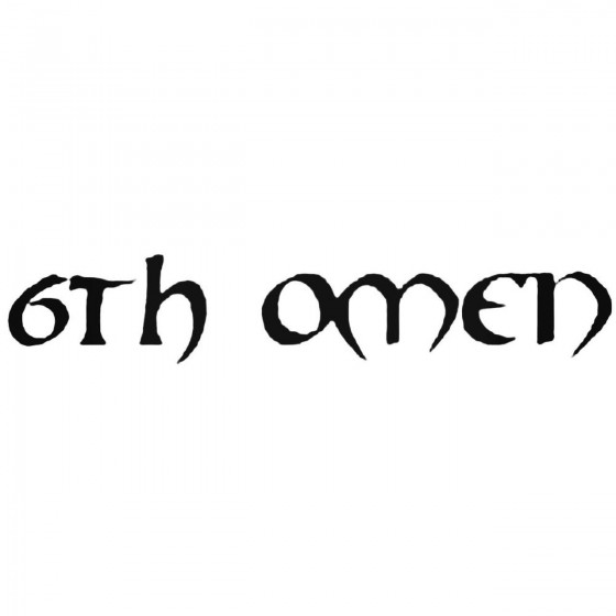 Th Omen Band Decal Sticker