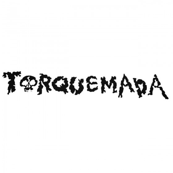 Torquemada Band Decal Sticker
