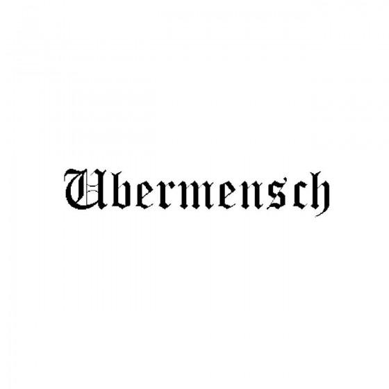Ubermenschband Logo Vinyl...