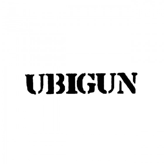 Ubigunband Logo Vinyl Decal