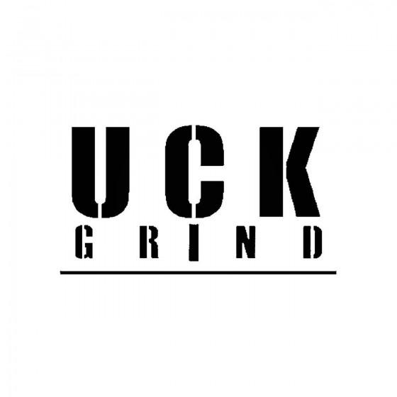 Uck Grindband Logo Vinyl Decal
