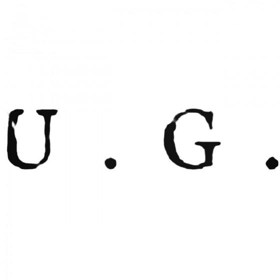Ug Band Decal Sticker