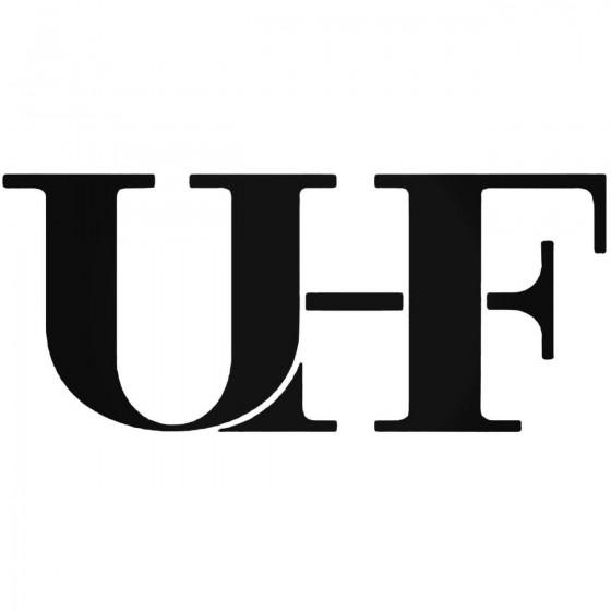 Uhf Band Decal Sticker