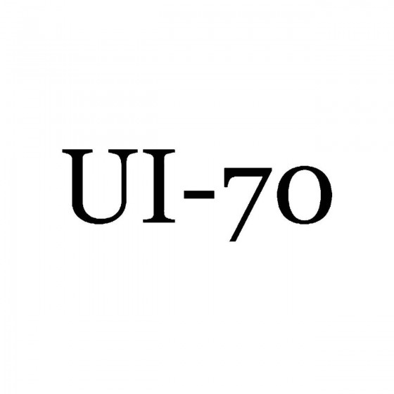 Ui 70band Logo Vinyl Decal