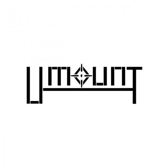 Umountband Logo Vinyl Decal
