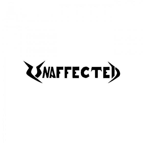 Unaffectedband Logo Vinyl...