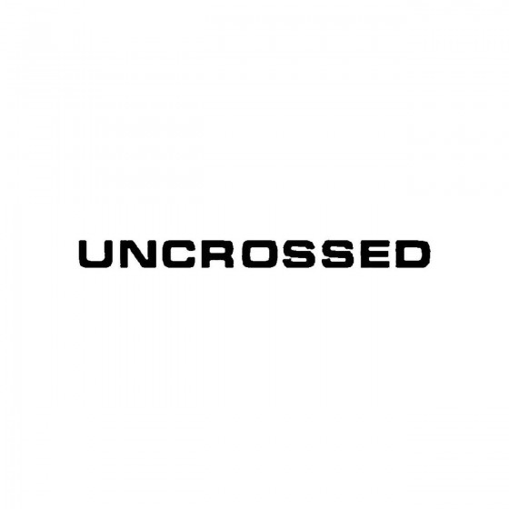 Uncrossedband Logo Vinyl Decal