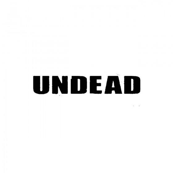 Undead 5band Logo Vinyl Decal