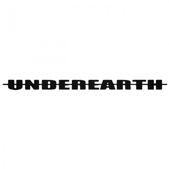 Underearth Band Decal Sticker