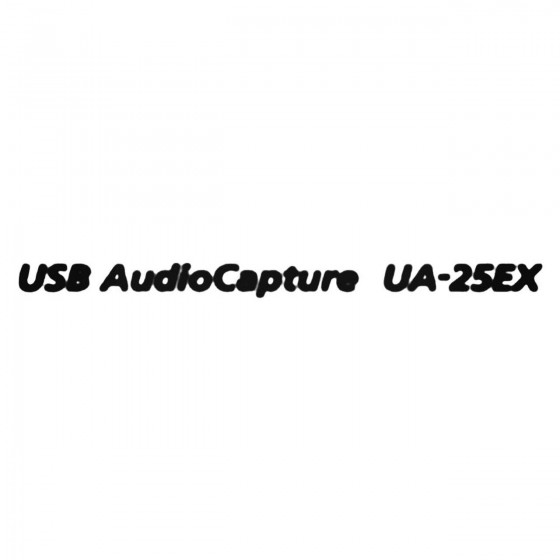 Usb Audiocapture Ua 25ex...