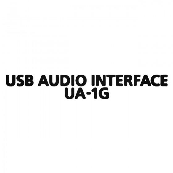 Usb Audio Interface Ua 1g...