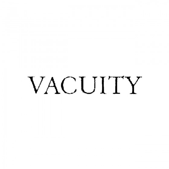 Vacuityband Logo Vinyl Decal