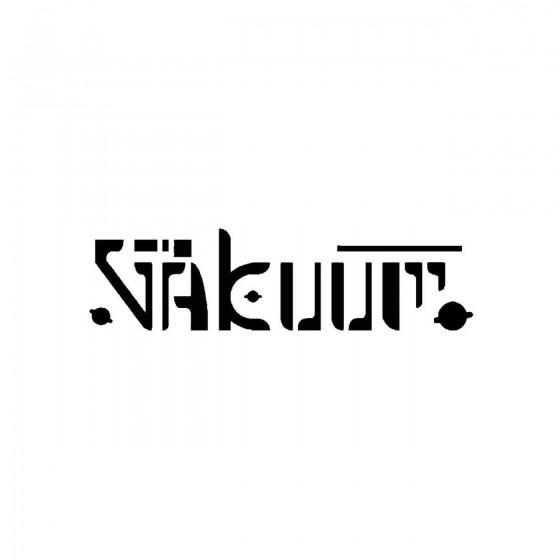 Vakuumband Logo Vinyl Decal