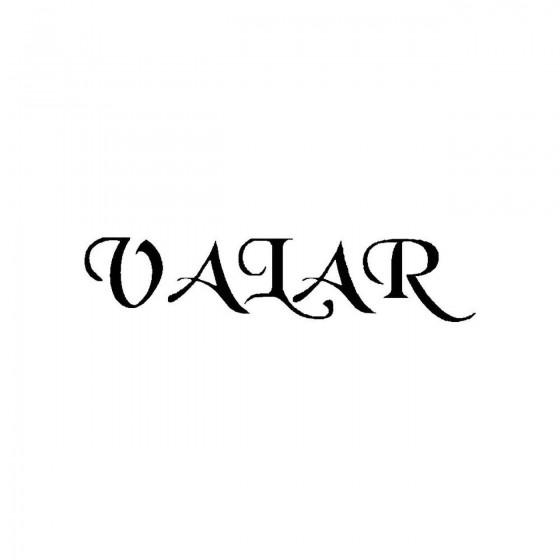 Valar 2band Logo Vinyl Decal