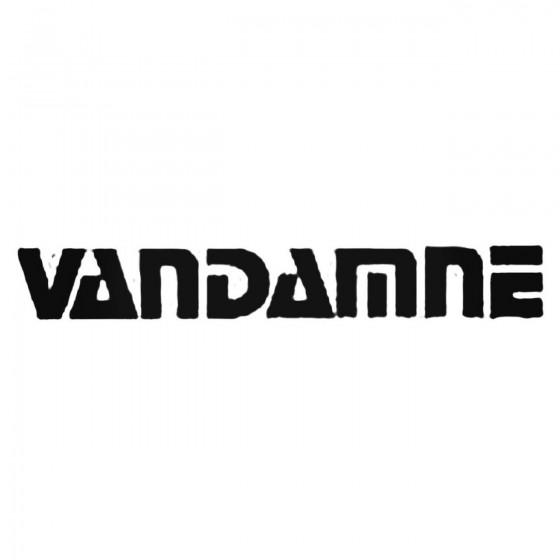 Vandamne Band Decal Sticker