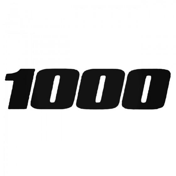 1000 Decal Sticker