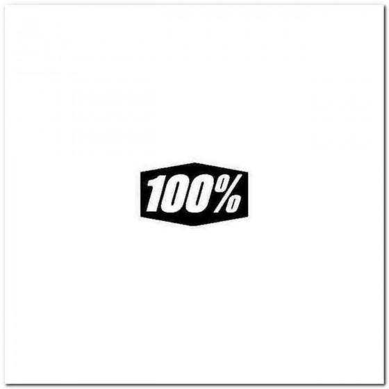 100 Percent Decal Sticker