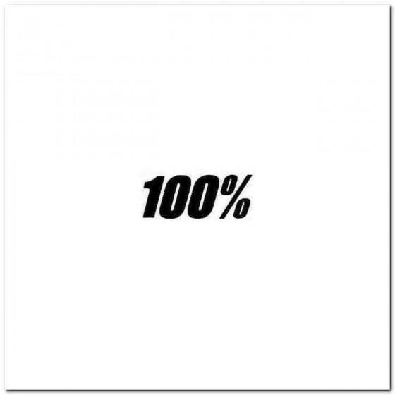 100 Percent Solo Decal Sticker