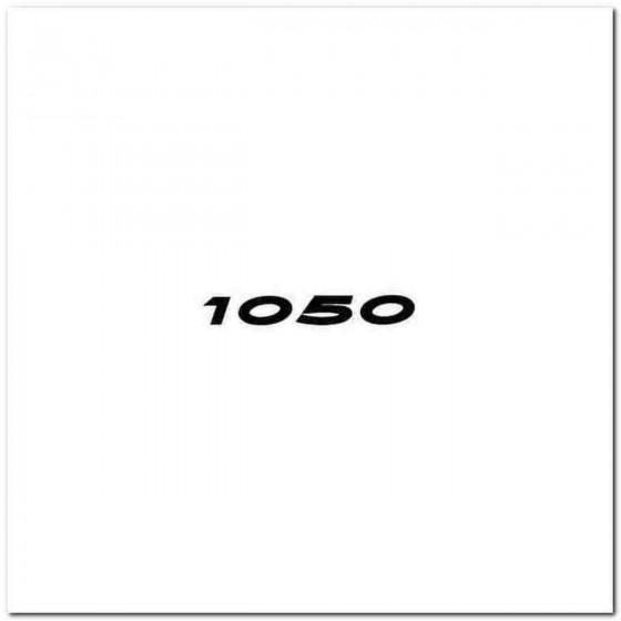 1050 Decal Sticker