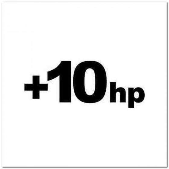 10hp Horsepower Jdm Decal...