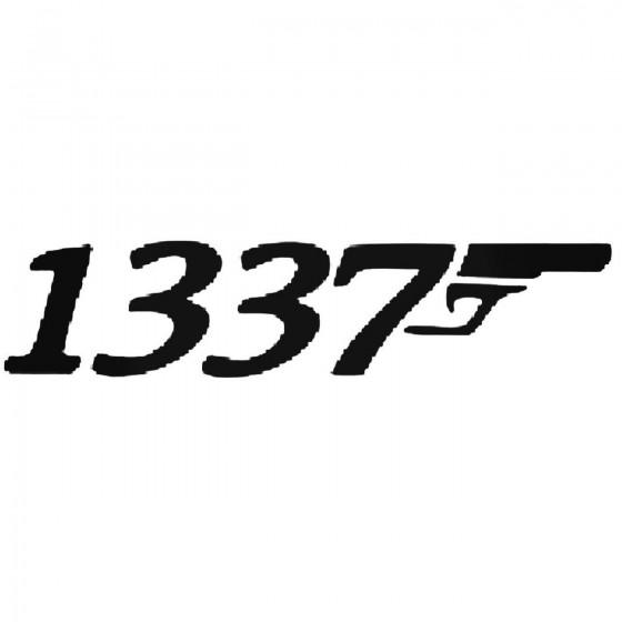 1337 Bond Style Sticker