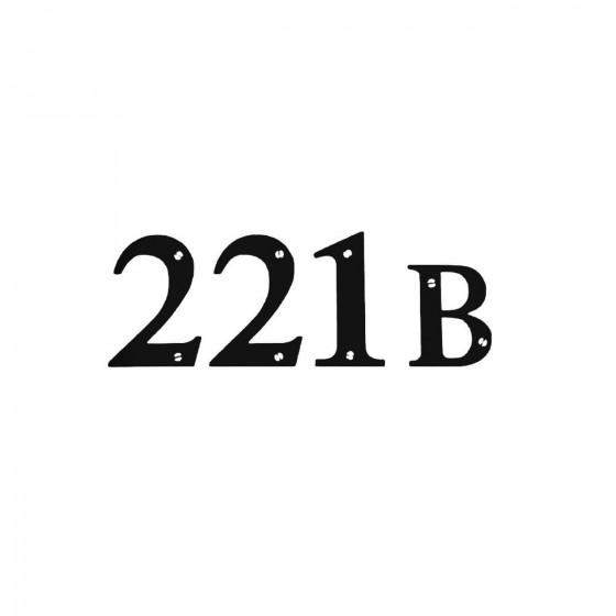 221b Sherlock Holmes Decal...