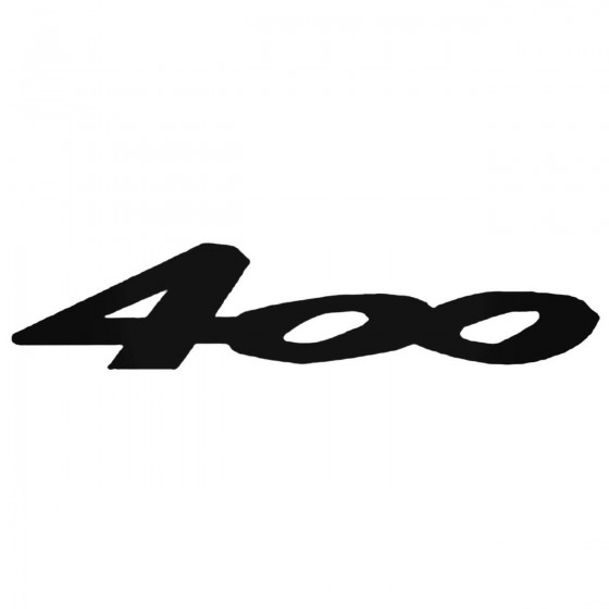 400 Decal Sticker