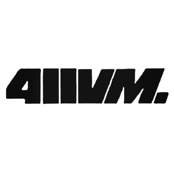 411vm Inner Decal Sticker