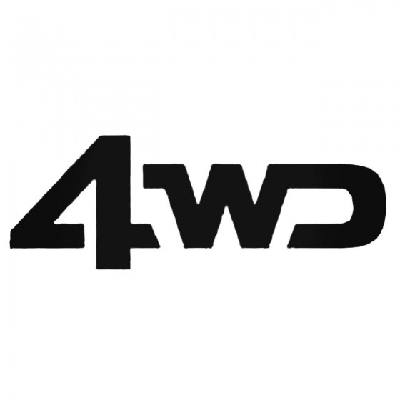 4wd Decal Sticker