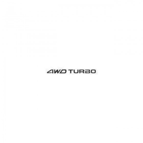 4wd Turbo Decal Sticker