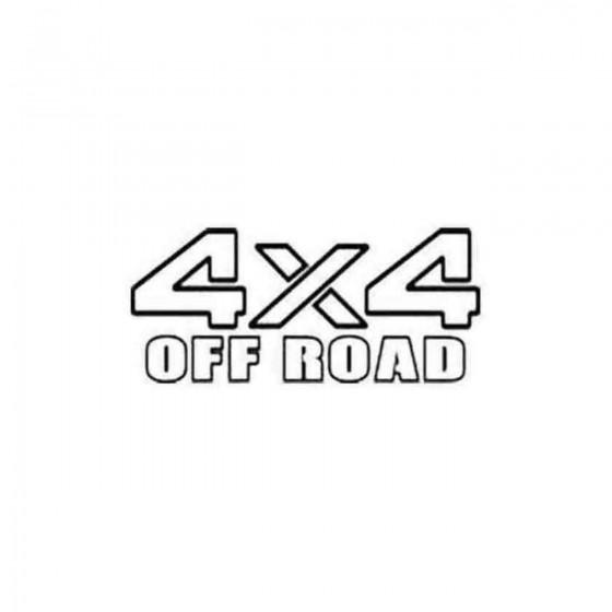 4x4 5 4x4 Offroad Die Cut...