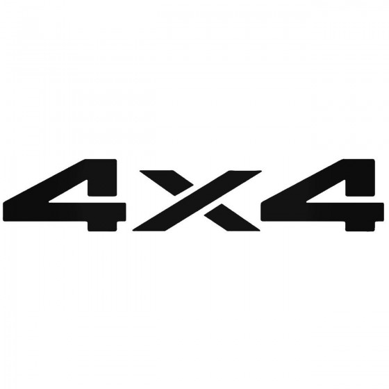 4X4 5 Decal Sticker